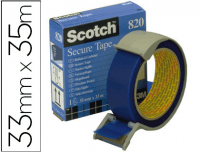 "Precinto Postal Scotch azul de seguridad ""Secure Tape"" 35x33"