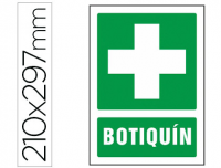 Cartel botiquin PVC 210x297 mm