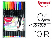 Rotuladores Maped® Graph Peps Fine Liner, blíster 10 colores