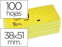 Comprar Notas de quita y pon adhesivas Post-it 38x51 mm amarillas (12 blocks)