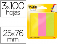 Comprar Mininotas Post-it 671/3 rosa, verde, amarillo neon
